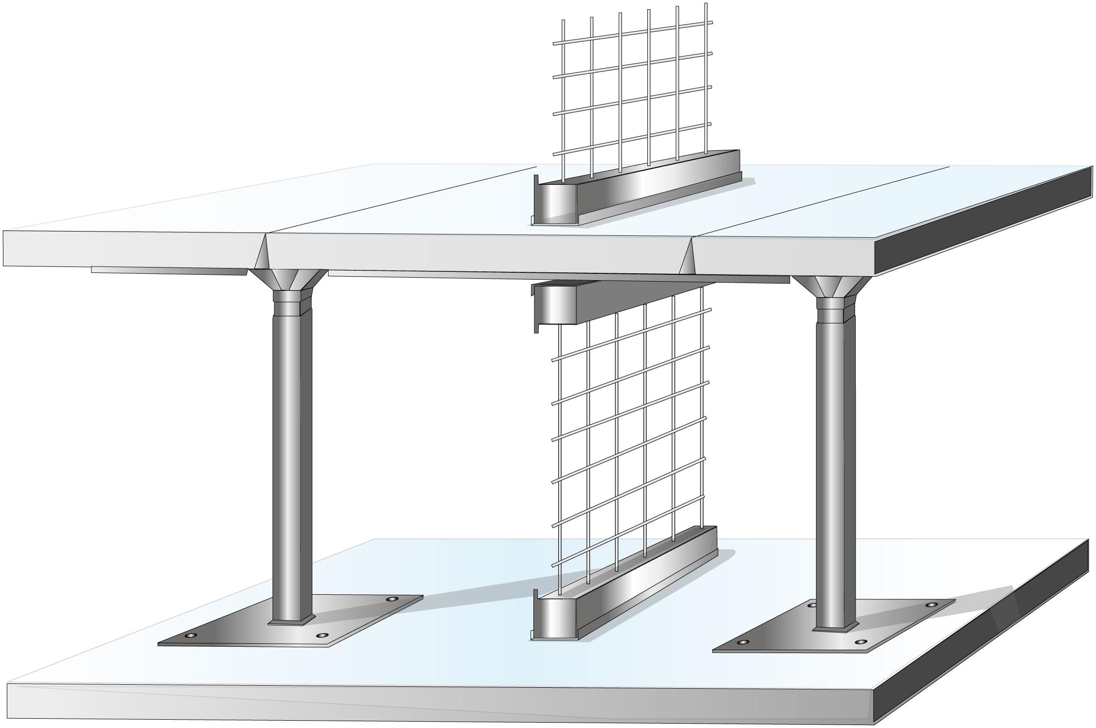 Data Center Cage Under Floor Mesh Panel
