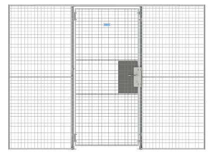 Data-Center-Cage-Wire-Mesh-single-hinged-door