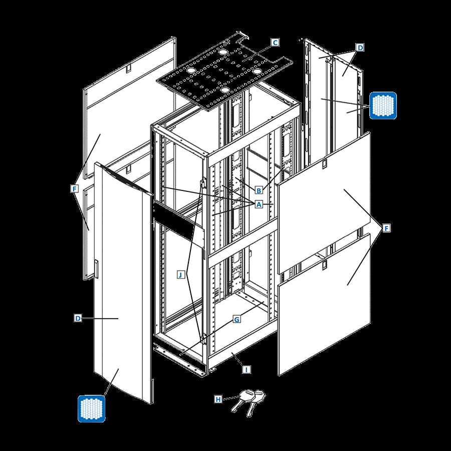 Enconnex-standard-rack-data-center-technical-drawing