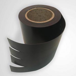 Black roll of magnetic cabinet skirt for data center