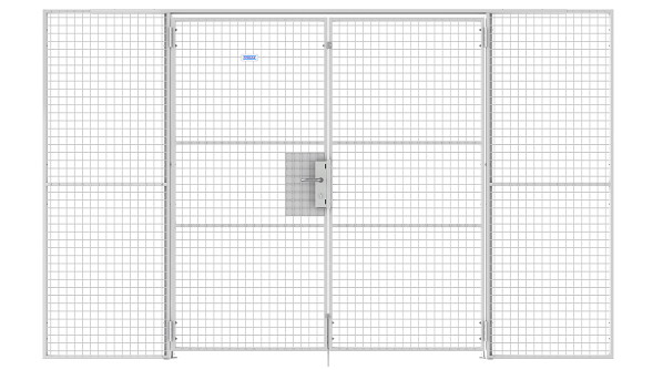 double-hinged-data-center-cage-wire-mesh-door