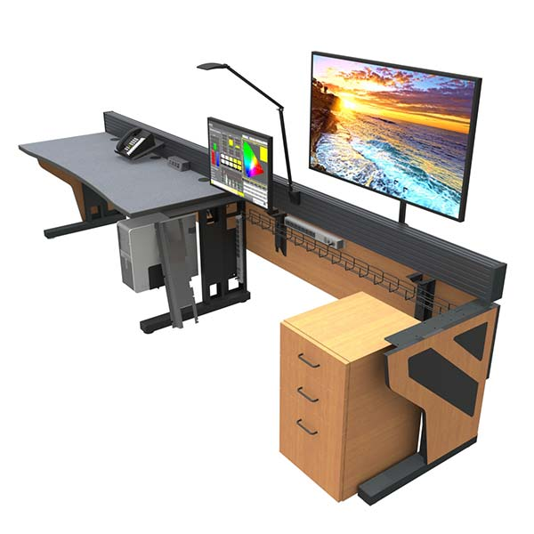 Command Flex control room console furniture with chairs and monitors