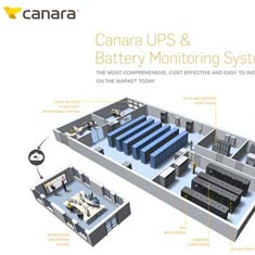 Diagram of Canar UPS Battery Data Center Monitoring