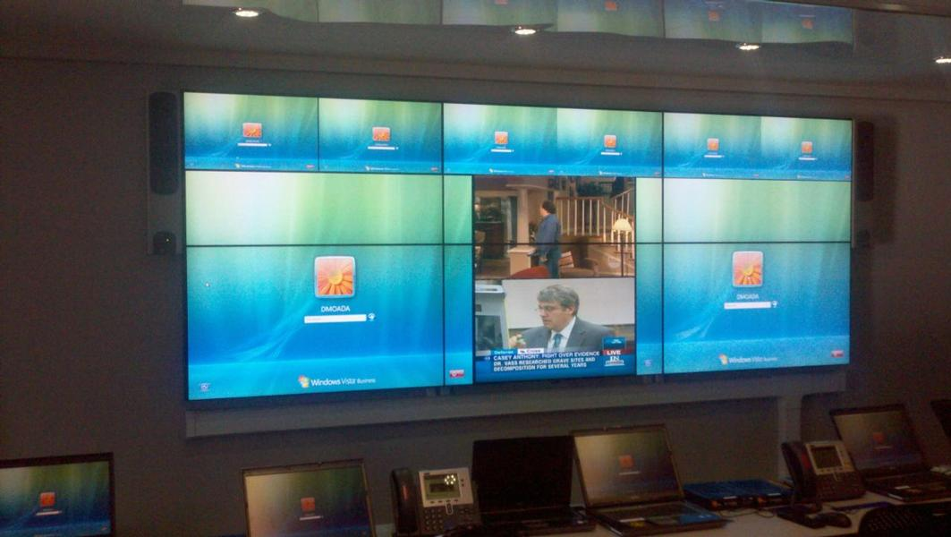 Clarity Matrix Lcd Video Wall Data Center Aisle