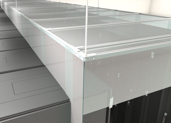 Clear Hot Cold Aisle containment ceiling strips