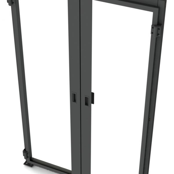Data Center Hinged Doors : Double hinged containment doors data center aisle