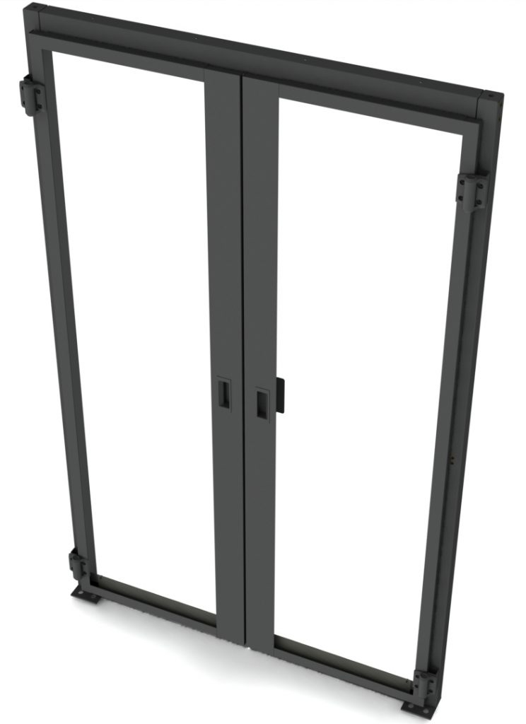 Data Center Hinged Doors : Double hinged containment doors hot cold aisle