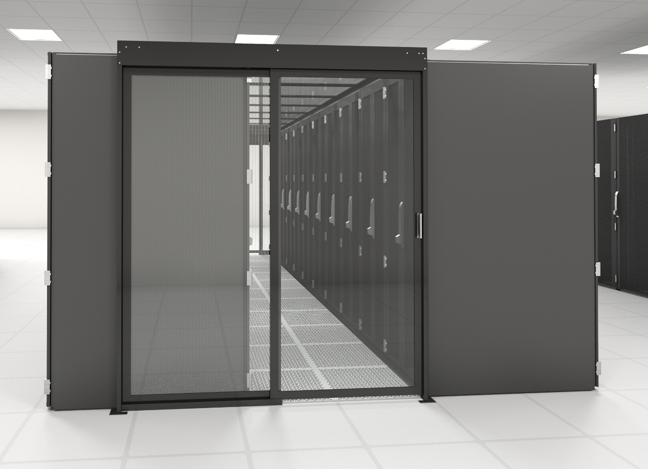 Single Sliding Containment Door Data Center Aisle