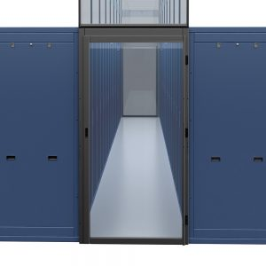 Single hinged containment door