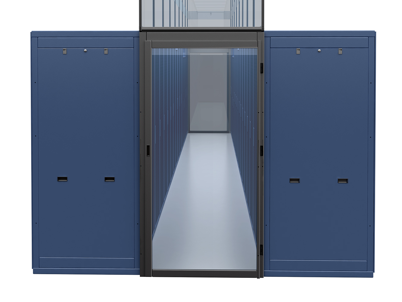 Double sliding containment door data center aisle for Double sliding doors