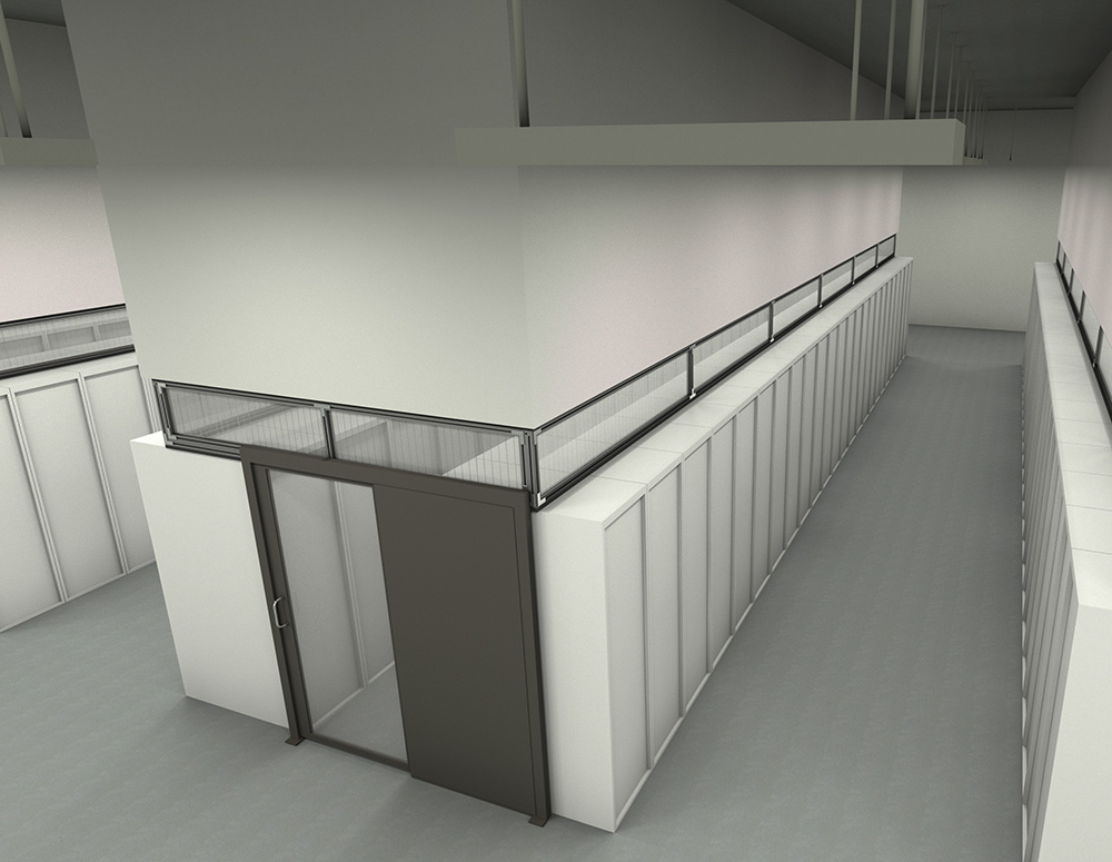 Fixed Vertical Panels Hot Cold Aisle Containment Data