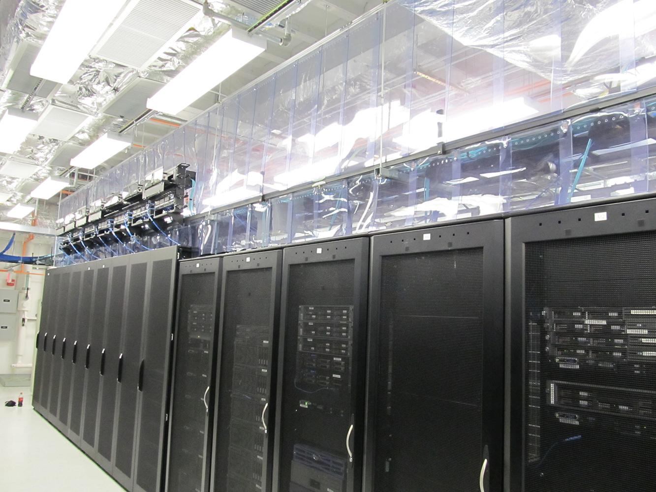 Flexible Aisle Containment Strip Curtains Data Center