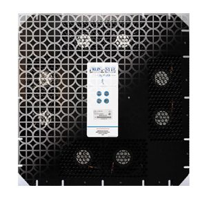 Frostbyte powered thermostat cold air under floor tile