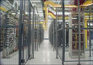 Colocation security data center cage