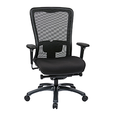 Dual Function Ergonomic Airgrid Chair Leather Front