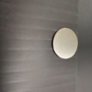 Black blanking panel with silver metal magnetic clip