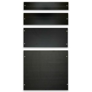 Multiple Black Blanking Panels for Data Center Servers