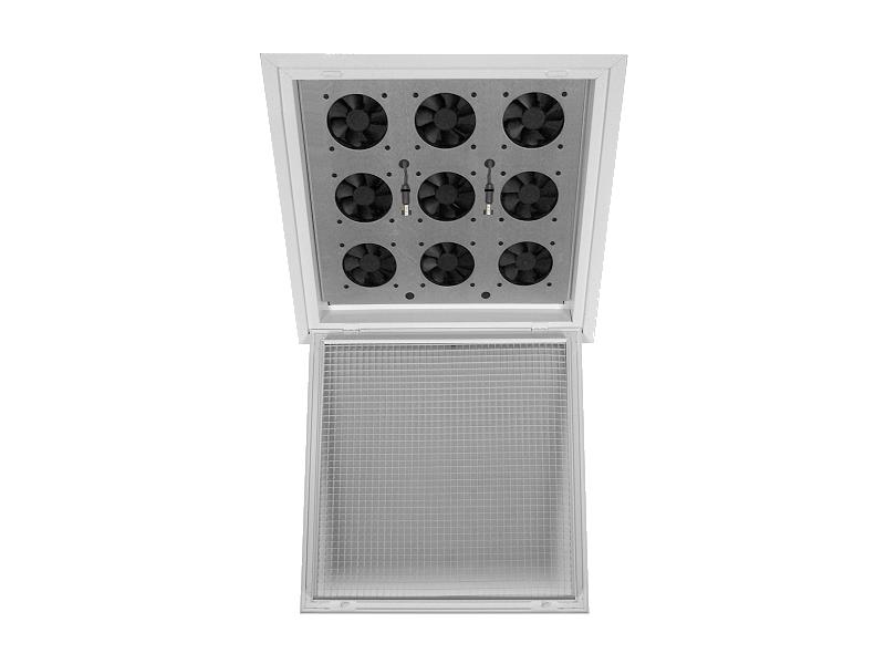Ceiling Grid Fan Tray Data Center