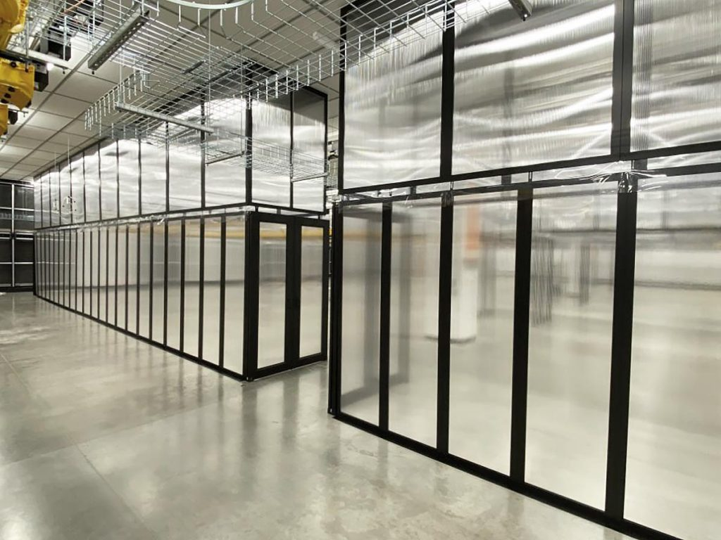 Aisle Containment Wall Panels for Data Centers