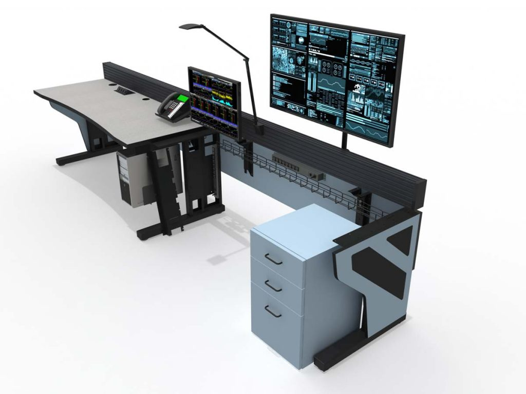 Command Tech Control Room Console Furniture Solution