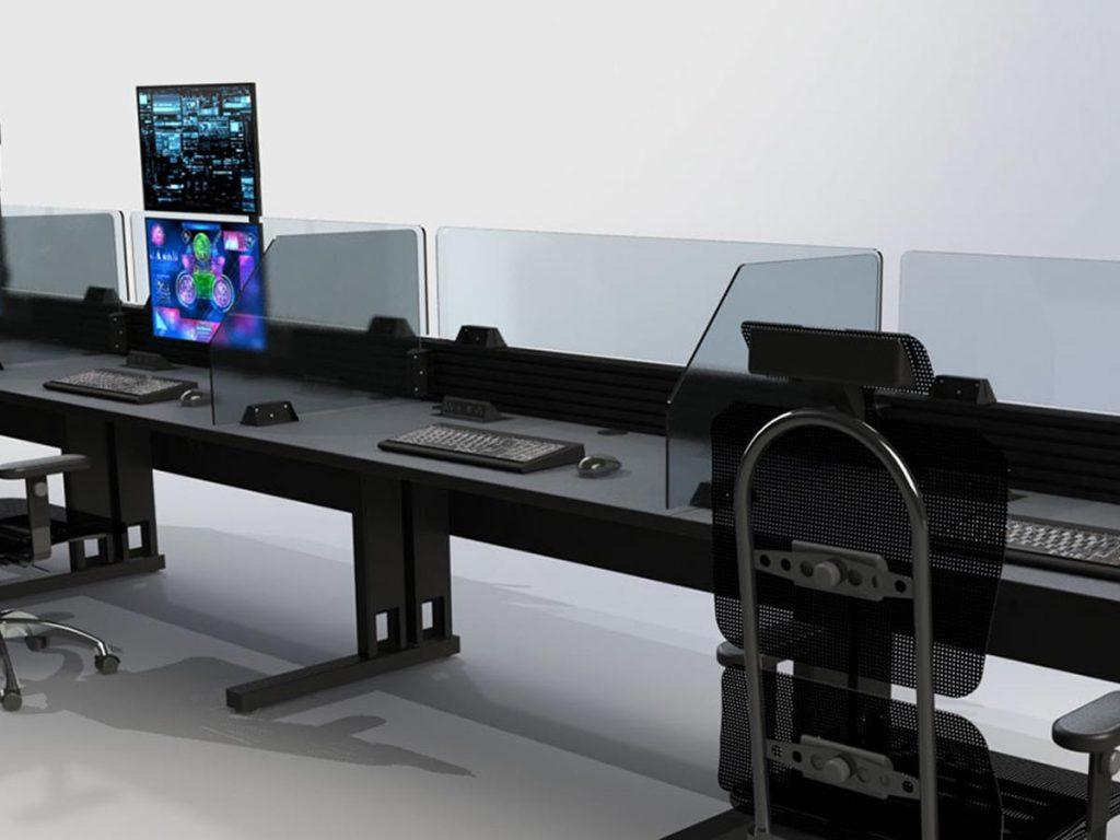 Sanitary Safety Divider For Workstation Desk